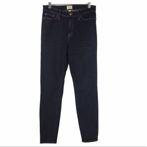 J. Crew Lookout High Rise Skinny Jeans Dark Wash